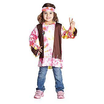 Traje hippie para crianças flor poder do traje das crianças