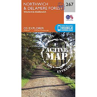 Northwich and Delamere Forest (September 2015 ed) by Ordnance Survey