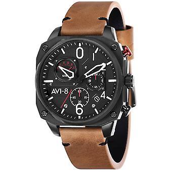 AVI-8 Hawker Hunter Watch - Brown/Black