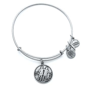Alex and Ani Gemini Silver Bangle A13EB01GERS