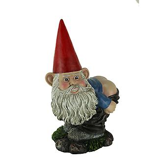 Cheeky the Naughty Mooning Gnome Bending Over Statue