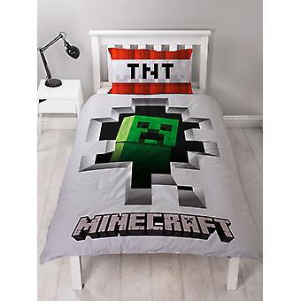 Minecraft Creeper Dynamite kołdra okładka zestaw