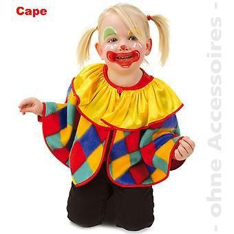 Clown barn Cape clown Cloak kostym Fool barn kostym