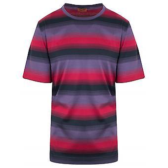 MISSONI Deep Red Striped T-Shirt