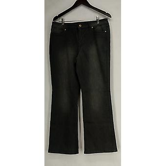Isaac Mizrahi Live! Petite Jeans Boot Cut Jeans Gray A280777