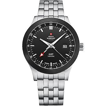 Swiss Military Swiss Quartz Analog Man Watch with SM34053.01 Stainless Steel Bracelet