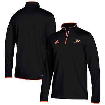 Adidas Nhl Anaheim Ducks Climalite Quarter-zip Villapaita Takki