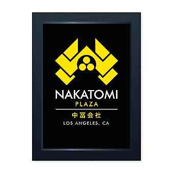 Nakatomi Plaza Action Movie ispirato stampa incorniciata Home decor Wall Art Uomo Grotta