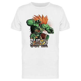 Super Street Fighter IV Blanka tee Men ' s-Capcom designs