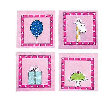 Jabadabado Pink Birthday Napkin (Babies and Children , Costumes)