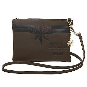 Capitão Marvel Major Danvers saco crossbody com encanto