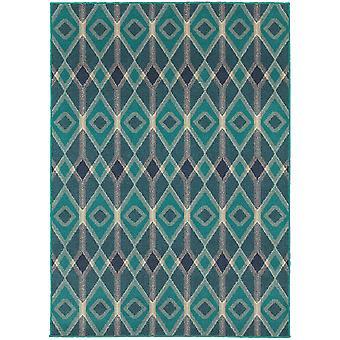Highlands 6627b blue/teal indoor area rug rectangle 5'3