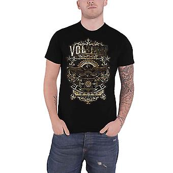Volbeat T Shirt Old Letters Band Logo new Official Mens Black