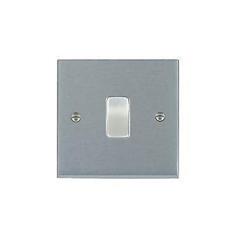 Hamilton Litestat Cheriton Victorian Satin Chrome 2 Way Rocker Switch 220 - 250V AC