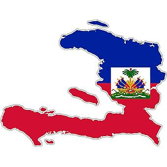Aufkleber Aufkleber Adhesif Auto Vinyl Flagge Haiti Karte