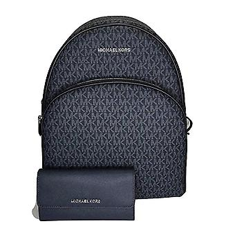 Michael kors large abbey backpack admiral blue mk + navy trifold wallet