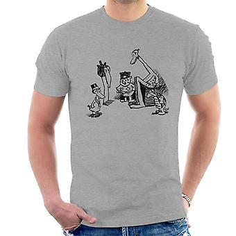Krazy Kat Huddle Plain Men's T-Shirt