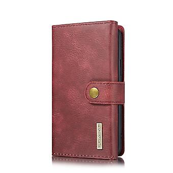 Dg. MING iPhone 11 Pro Split Leather Wallet Case-red