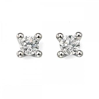 Elements Gold Elements White Gold Solitaire Diamond Earrings GE938Z475