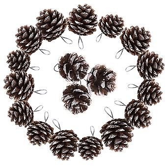 TRIXES Décorations d'arbre de Noel 18PC Hanging Pine Cones Christmas Baubles