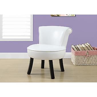 "20'.5"" x 19"" x 21'.5"" White, Foam, Solid Wood, Leather-Look - Juvenile Chair"