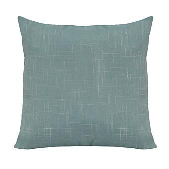 Teal Blue Tweed Pillow