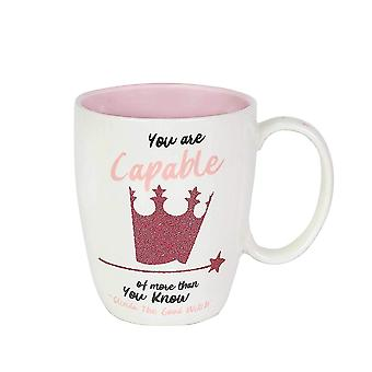 Mug - Wizard of Oz - Glinda Glitter Coffee Cup 12oz New 6003833
