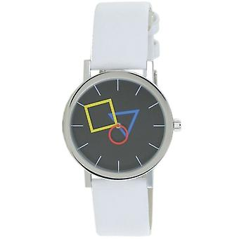 Aristo Bauhaus Unisex Watch Stainless Steel 4D86IW Leather White