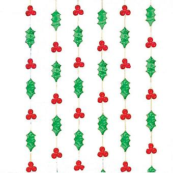 Amscan Hanging Foil Holly Feuilles Décorations (Pack Of 6)