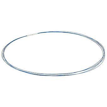 Ti2 Titanium Multi Strand Stainless Steel Necklace - Dark Blue