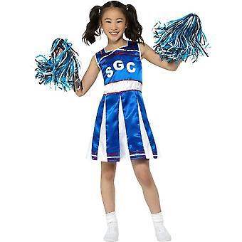 Cheerleader Kostüm, schickes Kleid Mädchen, Medium Jahre 7-9