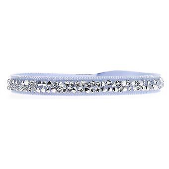 Bracelet Les Interchangeables A24963 - Bracelet Tissu Bleu Cristaux Swarovski Femme