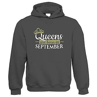 Queens are Born in September, Hoodie - Verjaardagscadeau haar moeder