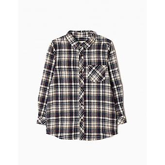 Zippy Shirt Longsleeve Check Schwarz I