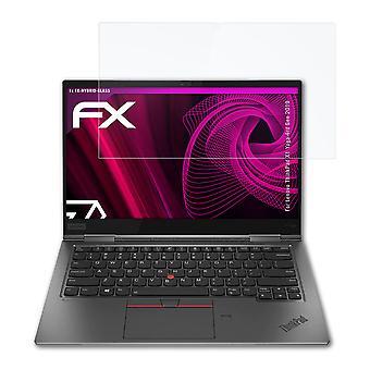 protetor de vidro atFoliX compatível com Lenovo ThinkPad X1 Yoga 4rd Gen 2019 9H Vidro Híbrido