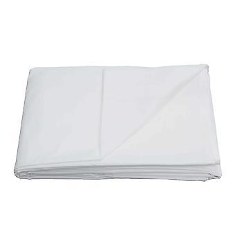 Egyptian Cotton Flat Sheet-White-Double
