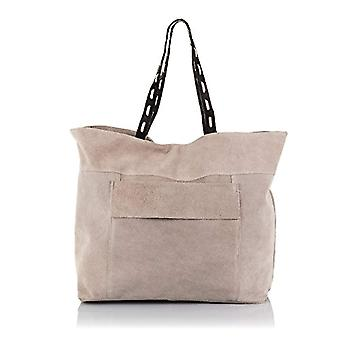 FIRENZE ARTEGIANI. Bag shopping bag real leather woman. Leather shoulder bag authentic suede.Handle shoulder Dollar. MADE IN ITALY. REAL ITALIAN SKIN. 46 x 34 x 15 cm. Color: Pink
