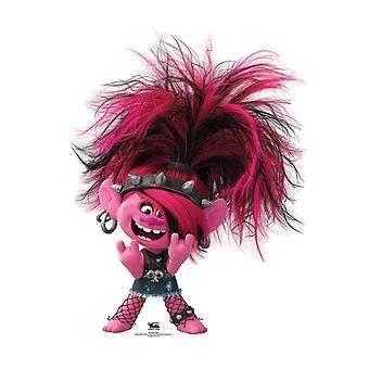Princess Poppy Punk Troll Official Trolls World Tour Lifesize Cardboard Cutout / Standee