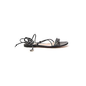 Gianvito Rossi G3170305cuonapnero Women's Black Leather Sandals