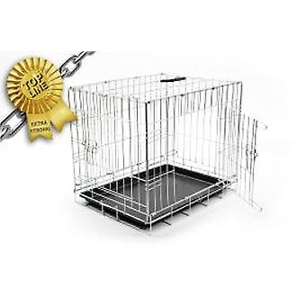 Duvo+ Cage Black Metal 2 Doors TM 76 X 48 X 54 Cm (Dogs , Transport & Travel , Cages)