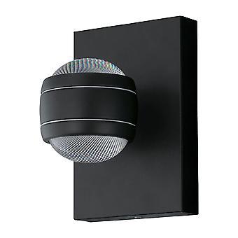 Eglo Sesimba - LED Outdoor Up Down Wall Light Black IP44 - EG94848