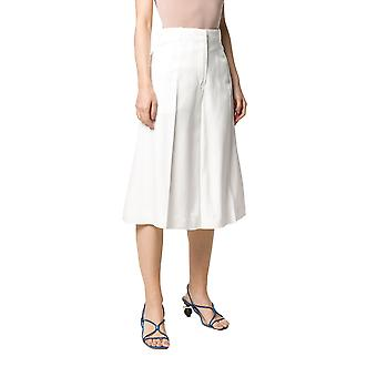 Jacquemus 201pa0220102110 Women's White Viscose Pants