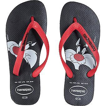 Havaianas Womens Looney Tunes Sylvester Open Toe Beach