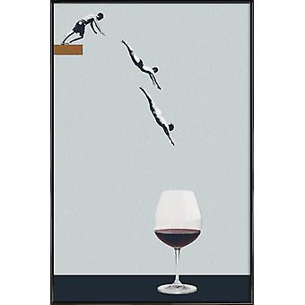 JUNIQE Print -  Your Best Friends Forget You Get Old - Wein Poster in Grau