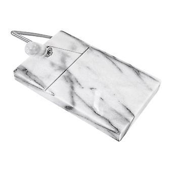 Dommer Ost bord med skæring tråd 21 x 20 cm Marmor Hvid