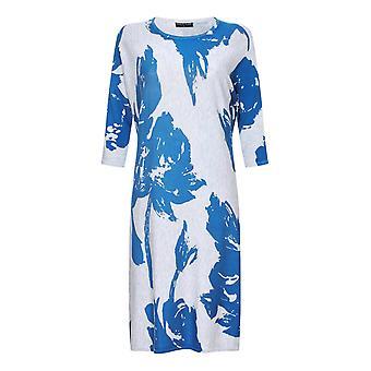 VIZ-A-VIZ plata gran vestido de punto floral