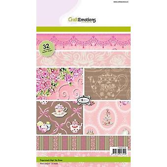 CraftEmotions Paper stack High Tea Rose 32 sheets A5