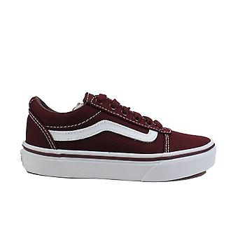 Vans YT Ward Port Royale /White Canvas Youth Lace Up Sneakers