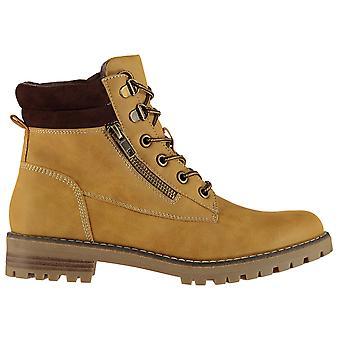 Soulcal mulheres senhoras Luis lace-up Chunky combate robusto botas sapatos de inverno