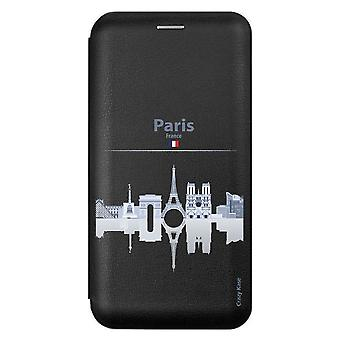 Custodia per Samsung Galaxy A51 Black Motif Monuments De Paris